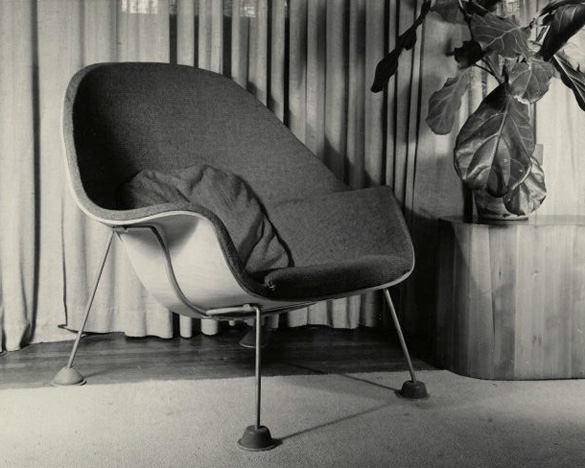an early prototype for another saarinen masterpiece the womb chair model no 70
