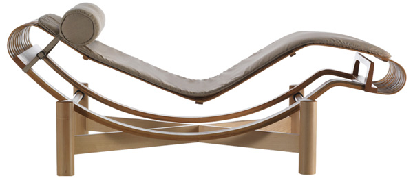 Charlotte perriand mdba for Chaise longue b306