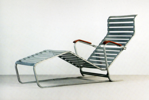 1932 marcel breuer chaise longue no 313 mdba for Breuer chaise longue