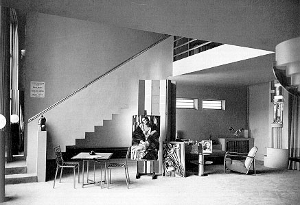 1929 tamara de lempicka studio designed by the architect. Black Bedroom Furniture Sets. Home Design Ideas