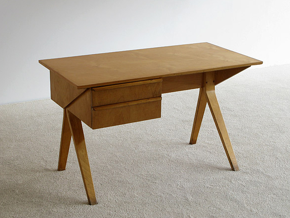 1952 Writing Desk EB02 And SB03 Chair With Birch Plywood