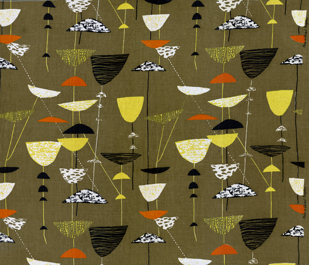 402b-Olive-Calyx-by-Lucienne-Day-Textile bigger
