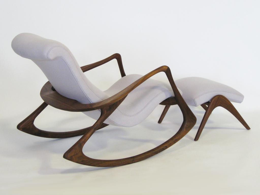 1950_ Contour Rocking Chair And Ottoman By Vladimir Kagan