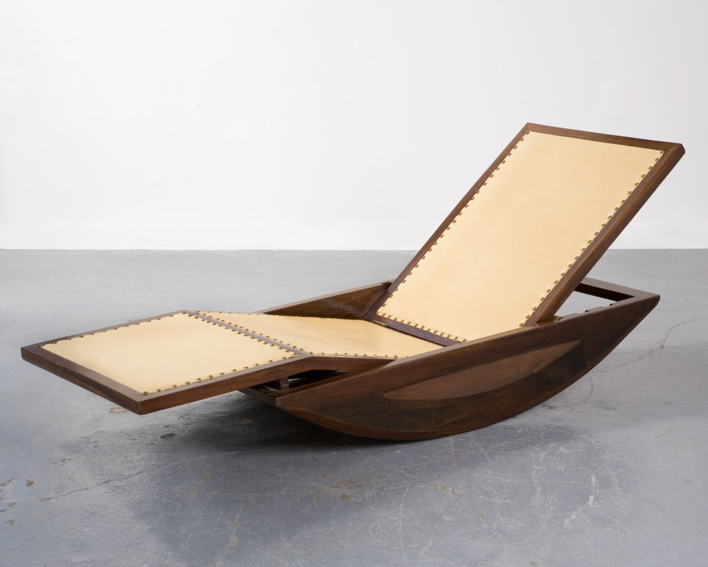 1947 Chaise Lounge Rocking Chair By Joaquim Tenreiro Brazil