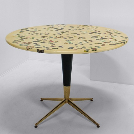 1950_ U0027Farfalleu0027 Dining Table By Piero Fornasetti