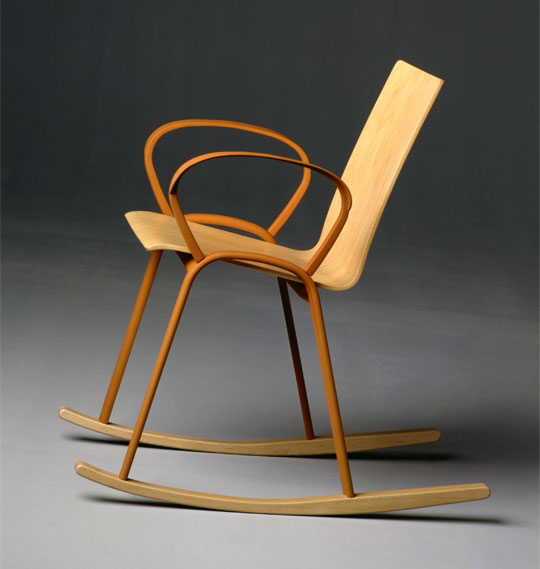 2003 rocking chair by enzo mari mdba. Black Bedroom Furniture Sets. Home Design Ideas